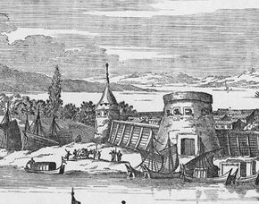 A depiction of the fortress at St. Augustine, Florida, circa 1671