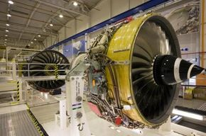 Flight Image Gallery Jet engines on the assembly line. See more pictures of flight.