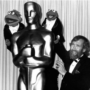Part of the Muppets' appeal was that Jim treated them like real people when he took them out in public (like here, at the Academy Awards ceremony in 1983).