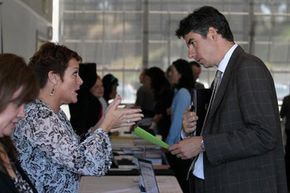 If you get some one-on-one time with a recruiter, make it count. Let him or her know you're in it for the long haul.