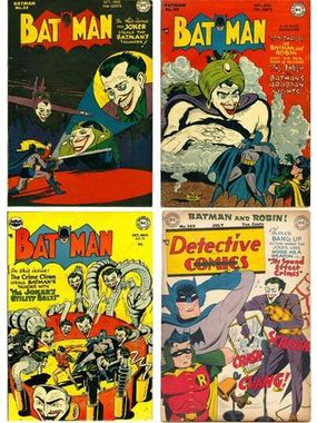 The Joker's assorted bag of tricks included cruising in the Joker-Mobile (Batman #37), masquerading as a genie (Batman #49), creating anti-Batman utility belts (Batman #73) and playing ear-piercing bagpipes (Detective Comics #149).