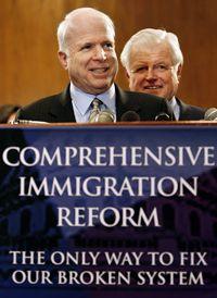 McCain speaks on immigration reform.