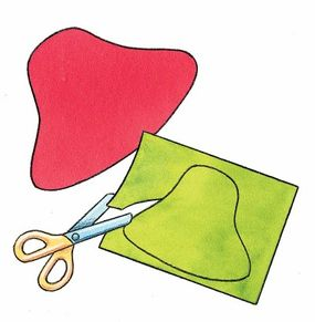 Trace the patterns onto colored paper before you cut them out.