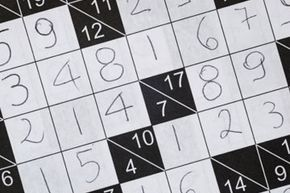 Add a crossword puzzle grid and sudoku together, and you get something kakuro puzzles.