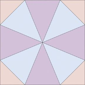 The Kaleidoscope Quilt Block is from the Traditional Treasures Quilt Designs. See more pictures of quilt blocks.