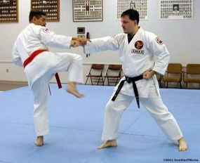 In karate and other martial arts forms, you might pull opponents toward you to increase their forward momentum and throw them off balance.