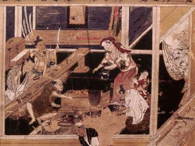 artwork of smiths making swords