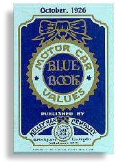 The very first Kelley Blue Book, published in 1926