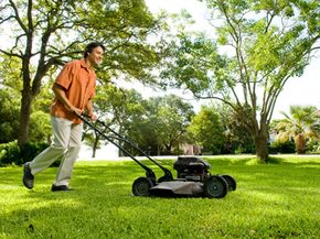 Your grass will retain more moisture if you keep your lawn mower's blades set high.
