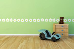 Daisy wall decals are perfect -- and not permanent.