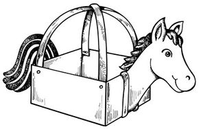You can make a great-looking horse costume out of a box.