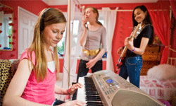 Music tools range from simple software programs to home recording studios.