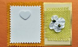 Think about texture, color and pattern when designing cards with your kids.