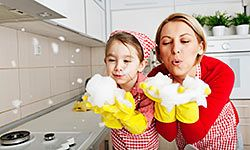 Your little ones will love helping with chores.