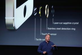 Apple SVP of Worldwide Marketing, Phil Schiller, speaks about security features of the new iPhone 5S during a product announcement in 2013.