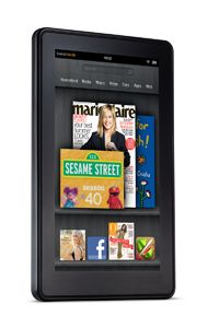 The Amazon Kindle Fire is an Android-based tablet.