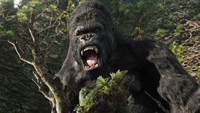 King Kong's digital motion is modeled on the movements of a live actor.