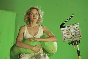Naomi Watts as actress Ann Darrow visualizes the experience of being caught in Kong?s paw.