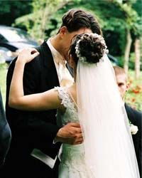 The kiss at the end of a wedding probably comes from ancient Roman kissing traditions.