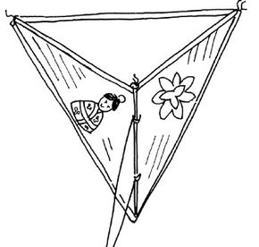 Learn how to make a tiny straw kite.