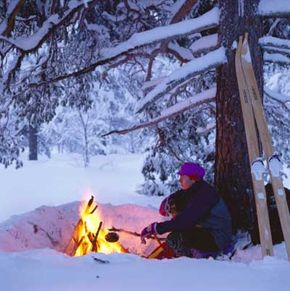 In the Alaskan wilderness, heat is a must for survival. You have multiple options for starting a fire with the help of a knife.