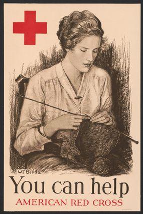 1918 Red Cross poster knitting
