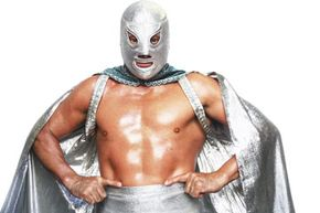 El Hijo del Santo (the son of the Saint) continues the legacy of his father, El Santo, a common practice among lucha libre families.