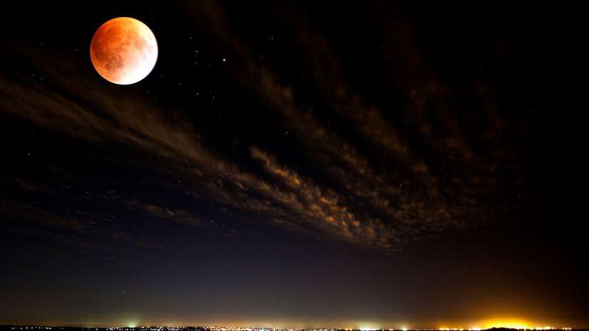 lunar eclipse at night