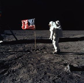 """Moon Image Gallery Apollo 11 astronaut Edwin """"Buzz"""" Aldrin Jr., the lunar module pilot of the first lunar landing mission, stands on the surface of the moon. See more moon pictures."""