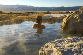 Sierra Nevada in California is one of the many places in the U.S. where you can enjoy a natural mineral bath.