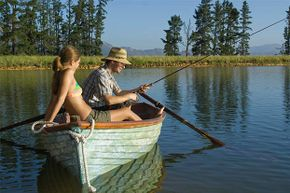 Instead of a pricey indoor salon, get your tan while fishing or enjoying the great outdoors.
