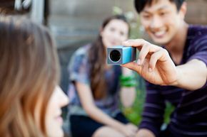 Taking a photo with the Lytro camera involves pushing a button. You focus later.
