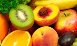 Choose a variety of textures when selecting types of produce to make the prints.