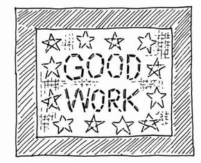 """Create a Labor Day """"Good Work"""" sign to inspire your hardest worker."""