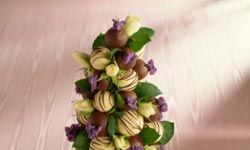 A croquembouche, a very elaborate (and time-consuming) cake is traditionally made for weddings and christenings in France.