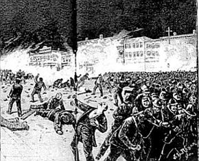 The Haymarket Riot was a watershed moment in the American labor movement and has been frequently memorialized through art.