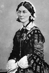 """Because of her habit of personally attending to patients during the night, Florence Nightingale earned the name """"Lady of the Lamp."""""""