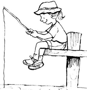 There's lots to do at the lake -- look for a nibble with this homemade fishing pole!