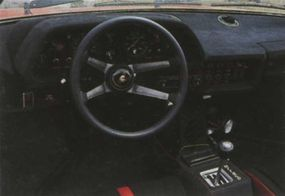 The interior of the Silhouette featured a more ergonomic dash than the Uracco, and enough room behind the seats for the lift-off roof.