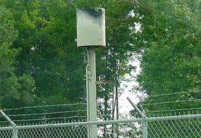 """A methane """"flare"""" is used for burning landfill gas."""