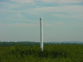 A methane collection pipe helps capture the hazardous gas.