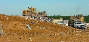 Landfills are located all over the world. There's even one in the Pacific Ocean. See more recycling pictures.
