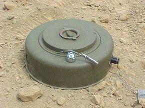 A close-up look at an M15 anti-tank mine