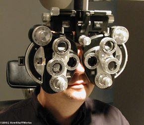 I gaze through the lenses of the phoreopter.