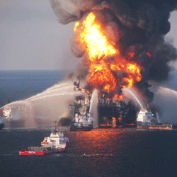 On April 21, 2010, the Deepwater Horizon rig exploded, starting a months-long gush of oil into the Gulf.