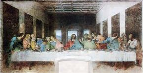 """The Last Supper"" lends itself to a host of theories about hidden imagery and meanings, but the painting's degradation and multiple restorations means that it may differ in i­mportant respects from da Vinci's original production."