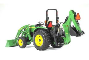 A John Deere tractor.