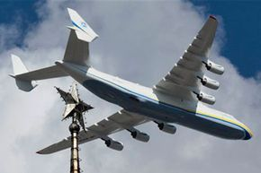 A Ukrainian Antonov An-225 practicises above Kiev, Ukraine, Friday, Aug. 21, 2009.