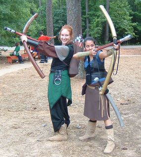 Swords, lances, daggers and even bows and arrows can be recreated as mock weapons called boffers.