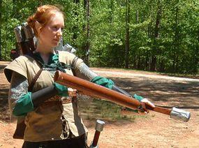 An elf wields her bow in SOLAR, a Georgia LARP.